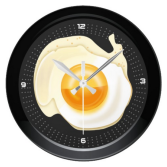 Poached Egg and Fryer Pan Round Wall Clock